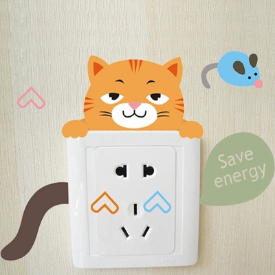 Special sale of animal switch stickers wall stickers cute cartoon lion klimts power socket switch stickers can be moved