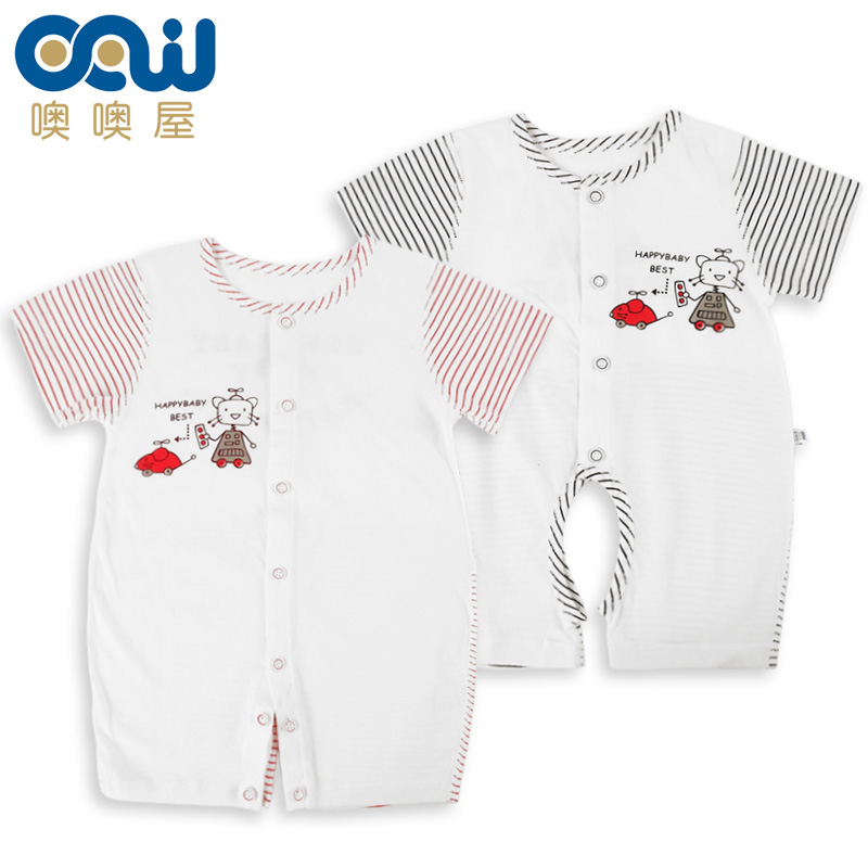 [Special] specifically for the baby summer short sleeve cotton underwear for men and women baby newborn infant leotard romper