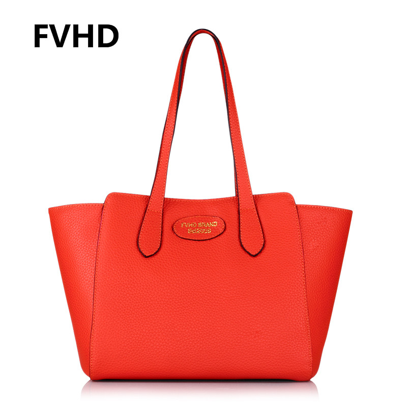 Special spring and summer fvhd tóth cowhide leather hand bag handbag european and american shoulder bag big bag influx of women with disabilities