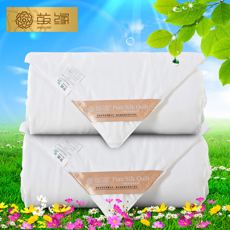 Special spring is 100% mulberry silk cocoon edge cotton is the core thick winter quilt children picture is 1 + 1.5 kg