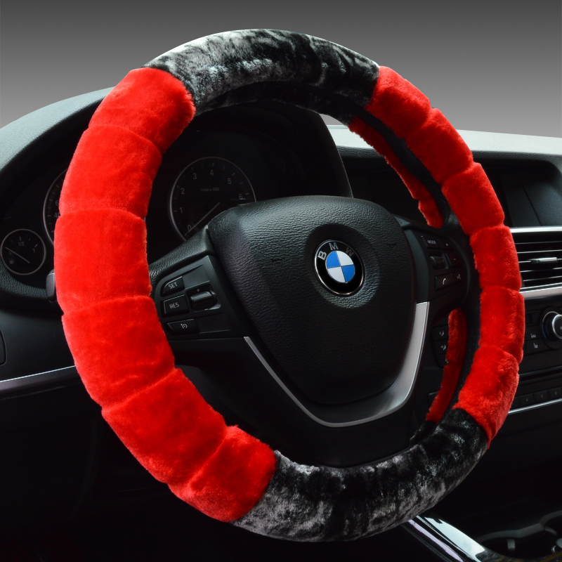 Special winter plush car steering wheel cover to cover excelle regal lacrosse tiida bora scirocco sharan touareg