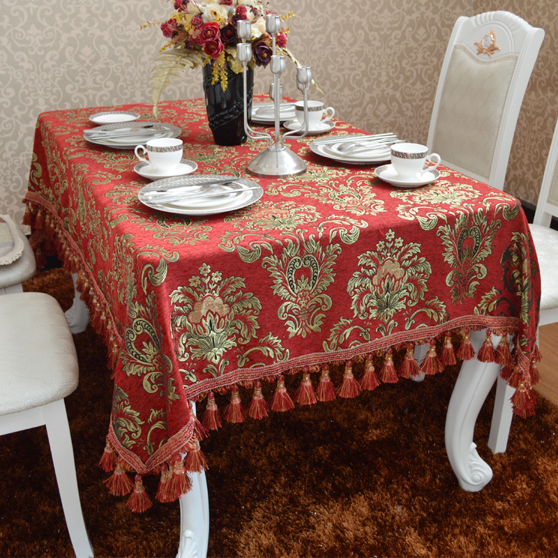 Specials good margin billion in the european minimalist modern red chenille fabric tablecloth tea table cloth tablecloths tablecloth table