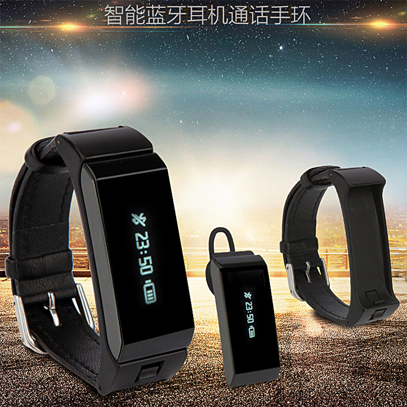 Sports car headset call bluetooth smart bracelet watch apple android ios sleep waterproof pedometer heart rate
