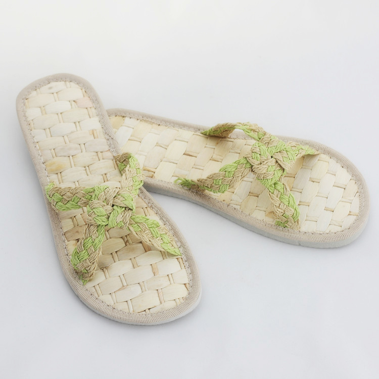 459ea50a97fc05 Get Quotations · Spring and summer grass woven rattan忆å›slip sandals and slippers  word drag