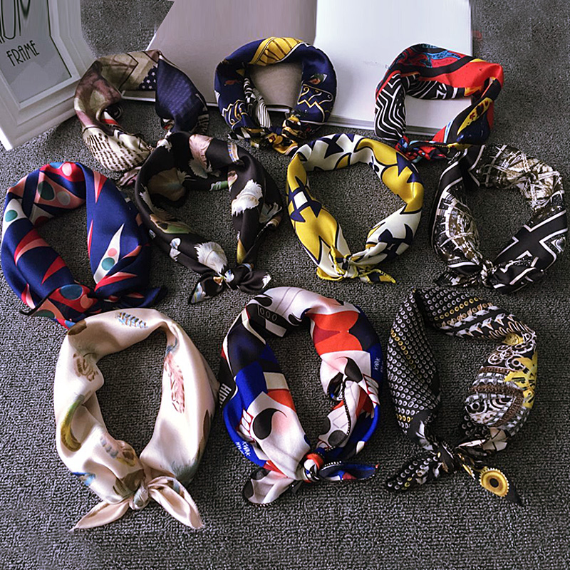 Spring and summer influx of korean small square scarf accessorise with scarf head scarf korean female wild career