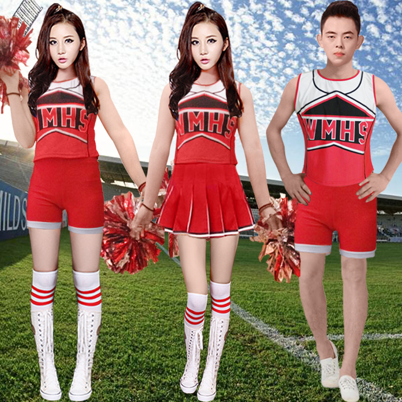 Spring and summer male and female models cheerleading uniforms cheerleading cheerleading costumes stage performance clothing aerobics clothing