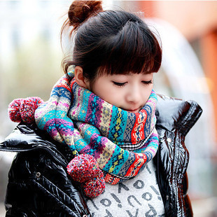 Spring and winter scarves korean female winter scarf female korean version of the bohemian thick wool scarves balls