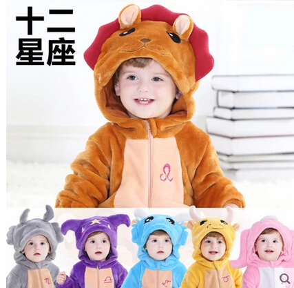 Spring baby siamese romper baby clothes for boys and girls animal modeling climbing clothing children's pajamas spring and autumn paragraph 0-1-year-old