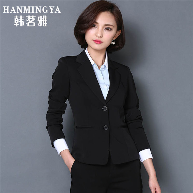 Spring models women's career suits long sleeve dress temperament business suits overalls korean noodles try small suit female three sets