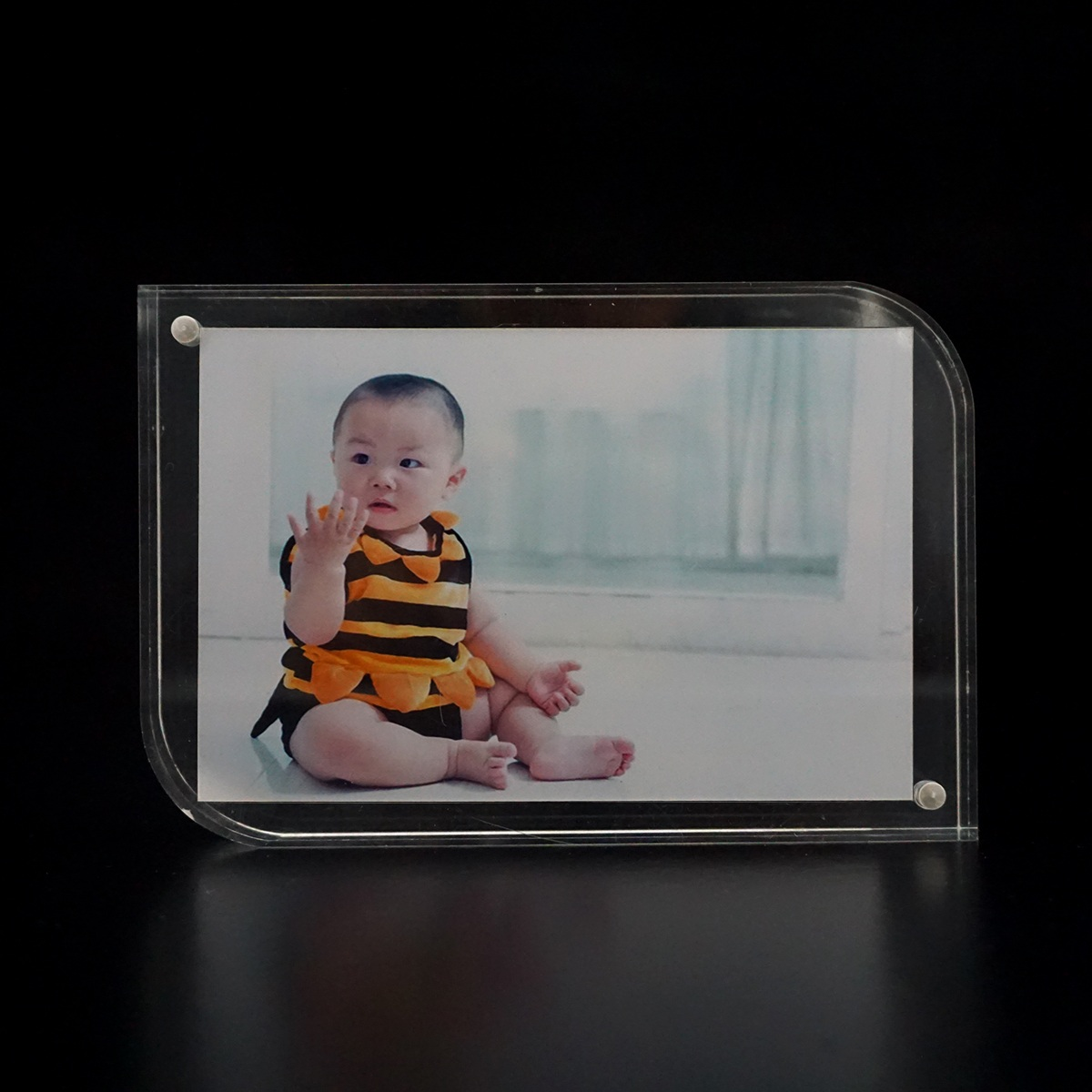 Square acrylic photo frame creative swing sets creative photo frame 5678 inch custom frame sided transparent organic board