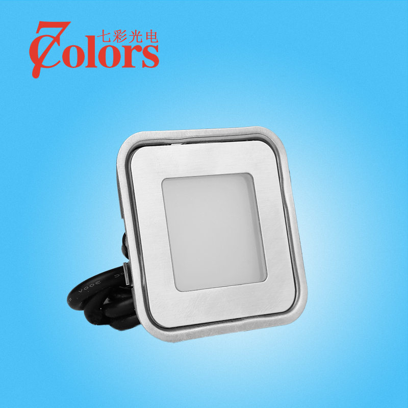 Square led underground lights garden lights floor lights stair step lights corner lights outdoor waterproof lights buried ground