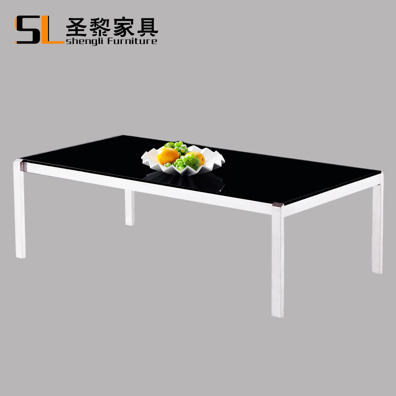St. li office furniture paint glass coffee table minimalist modern office household stainless steel coffee table coffee table parlor 102