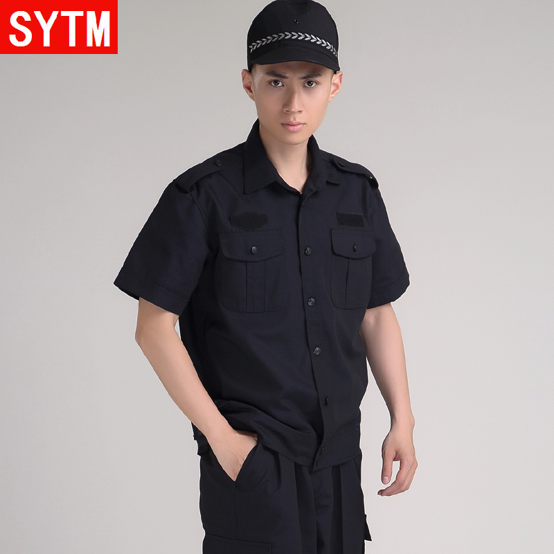 St. thailand and the united states according to summer short sleeve suit training uniform security service summer short sleeve men's suits in black overalls