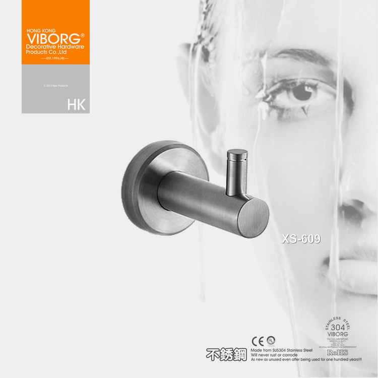 Stainless centuries [hong kong] yu bao full 304 stainless steel bathroom towel hanging pendant hanging pieces XS-609