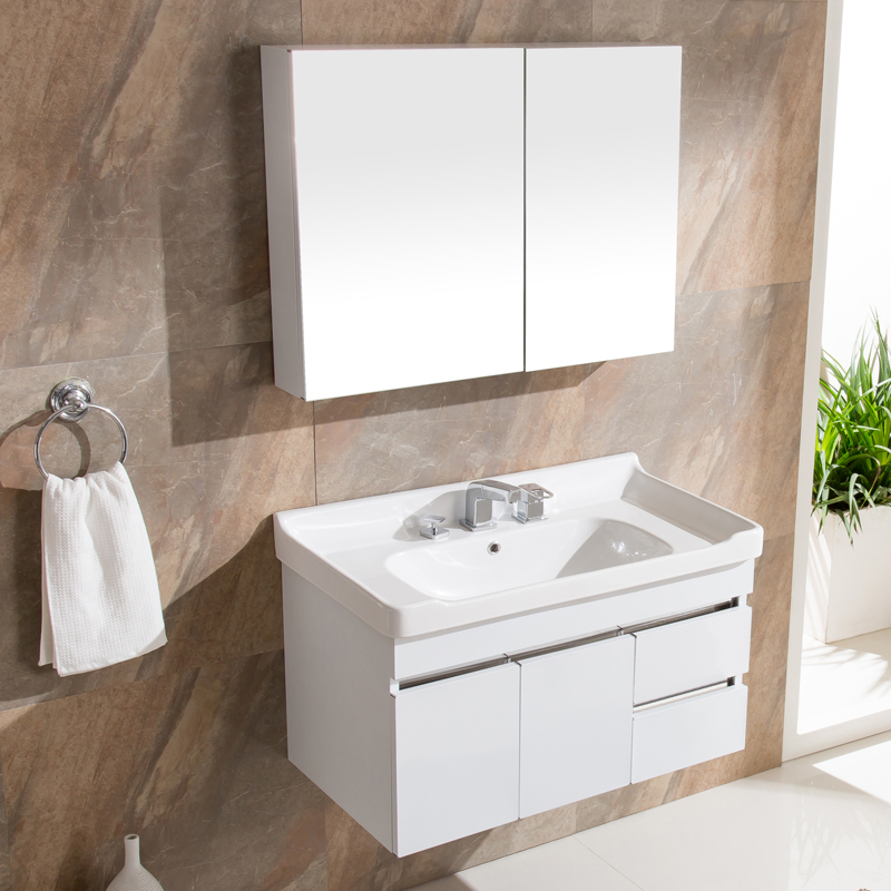 Stainless steel bathroom cabinet bathroom cabinet combination of vanity washbasin cabinet basin wash basin bathroom wall cabinet bathroom mirror cabinet