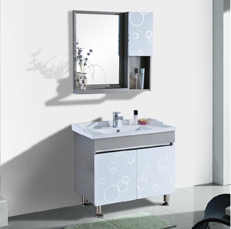 Stainless steel bathroom cabinet bathroom floor bathroom cabinet combination bathroom vanity washbasin vanity wash basin counter