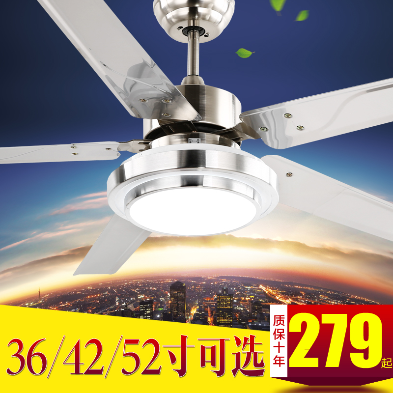 Nice Stainless Steel Ceiling Fan With Light Stylish Design Awesome