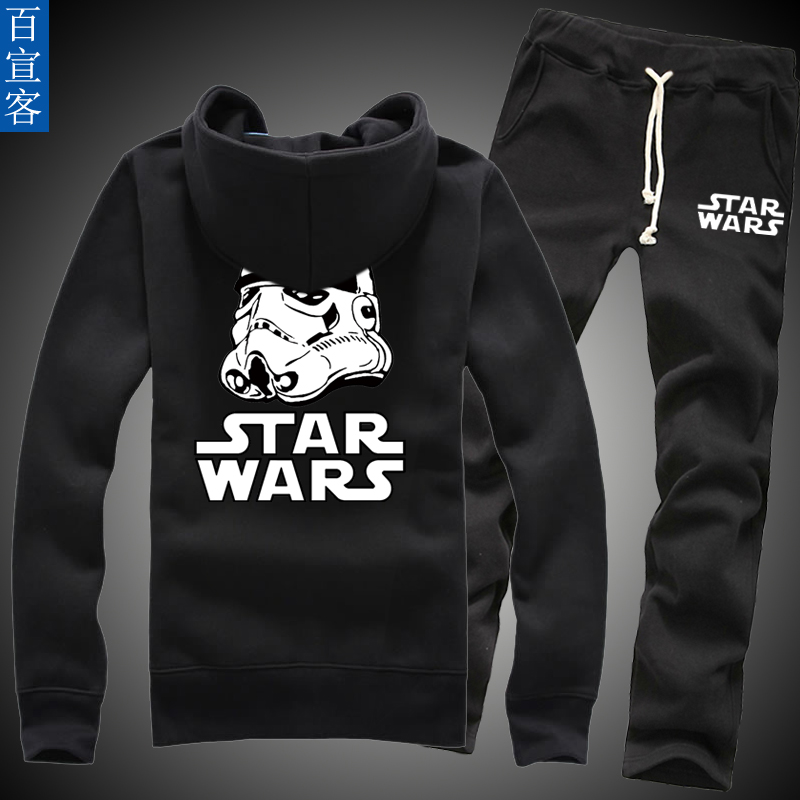 Star wars in spring and autumn clothes coat teenagers korean version of the trend of men's sports suit sweater coat high school students