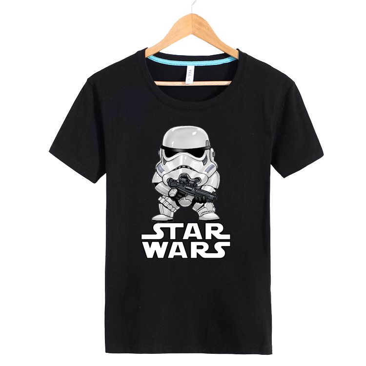 Star wars summer clothes korean version of the trend of adolescent men short sleeve t-shirt compassionate compassionate students