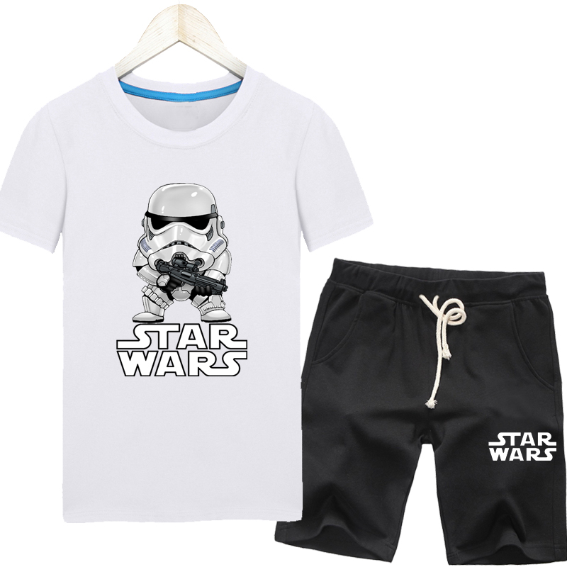 Star wars summer clothes summer korean version of the trend of students plus mast yards fat men short sleeve t-shirt suit