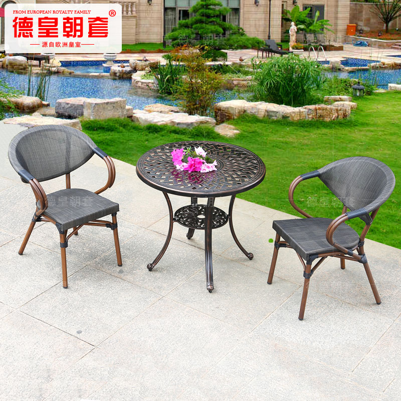 Get Quotations · Starbucks Coffee Tables And Chairs Outdoor Furniture  Rattan Chairs Cast Aluminum Outdoor Furniture Bar Chairs And