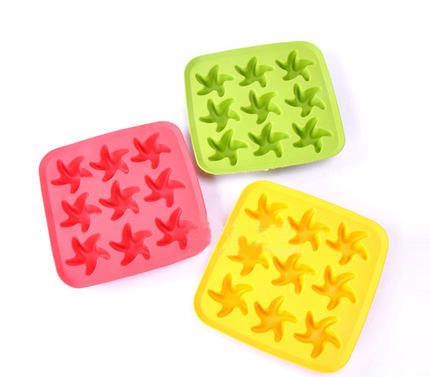 Starfish creative silicone ice lattice ice box ice mold ice mold ice whiskey ice box random colors
