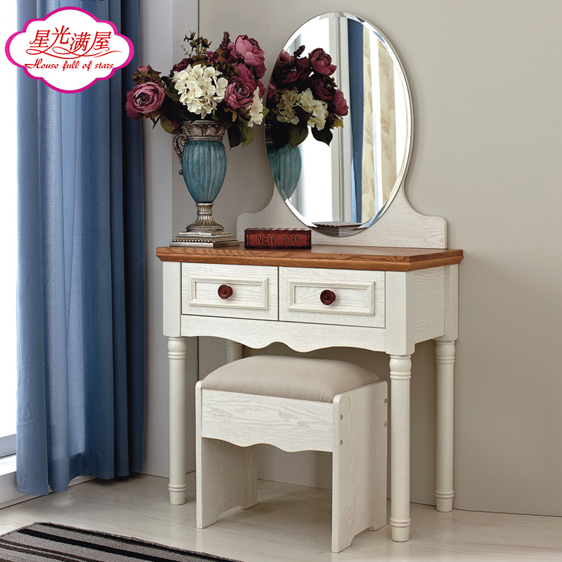 Stars full house mediterranean american country dresser bedroom dresser dressing table mirror makeup cabinet combination of pastoral willow water song