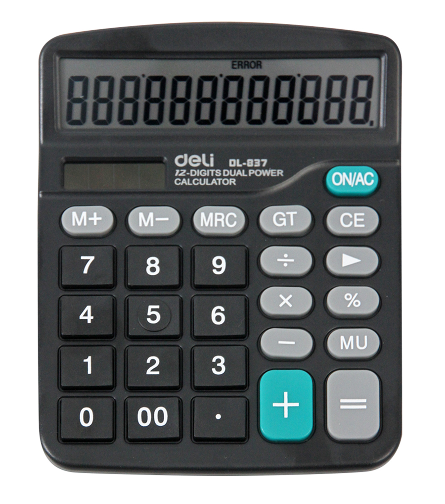 Stationery deli deli deli 837es calculator 837 computer solar dual power recommend