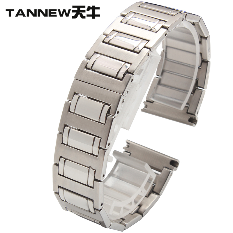 Steel strap watch accessories 22mm lengthened longicorn flat male replacement citizen montblanc