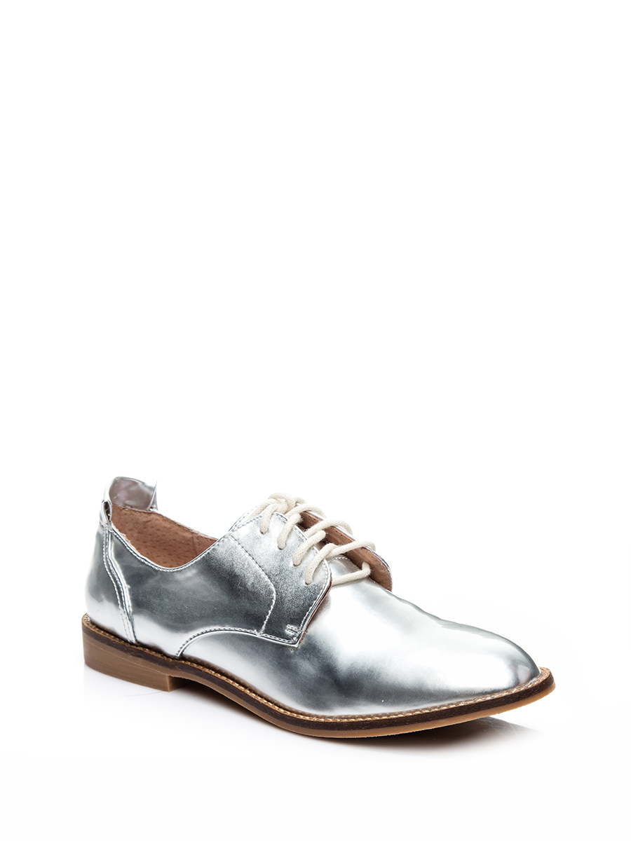 Steve madden/simei gordon silver stitching decorative lace derby shoes
