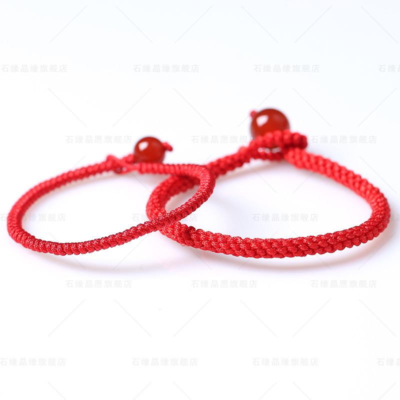Stone edge crystal wish opening 2015 ram natal red string bracelet red agate red string hand string bracelet female jewelry