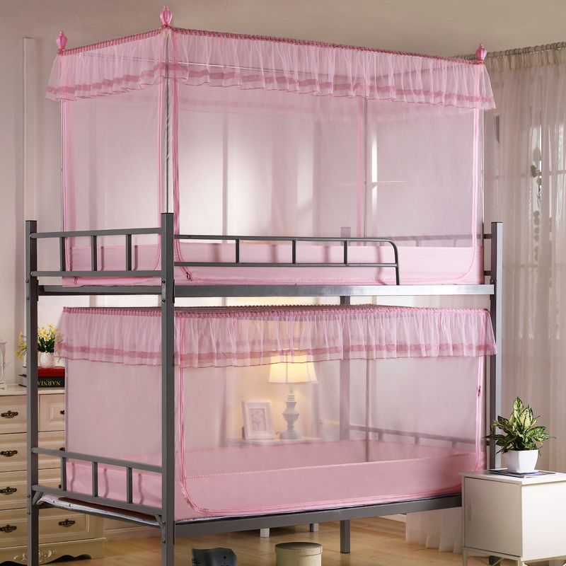 Student dormitory dormitory bunk bed nets spread of laridae mesclun zip encryption 0.9 m 1.2 m single bed bunk bed nets