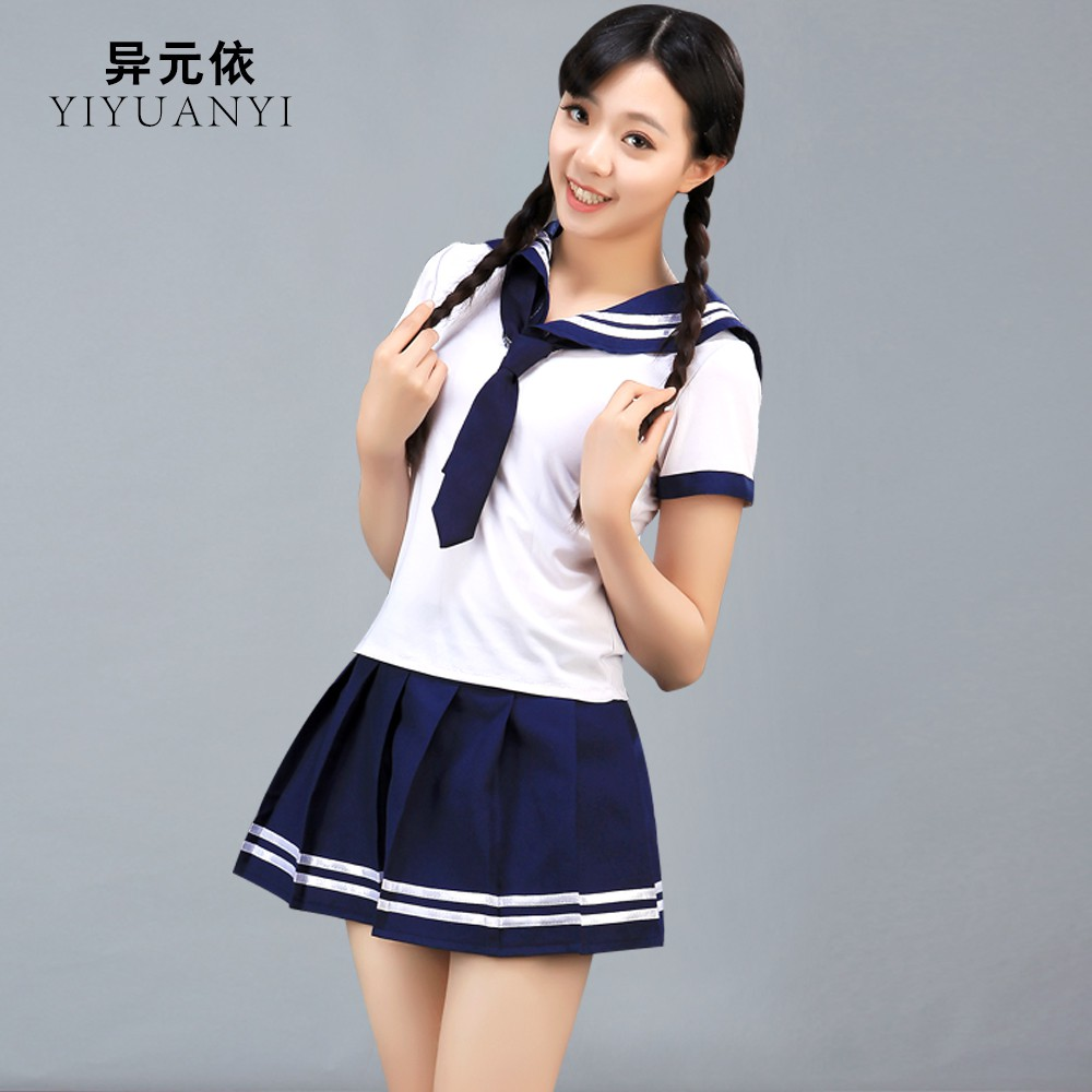 6d65d1f8a Get Quotations · Students in japan and south korea sailor uniforms girls  school uniforms performance clothing college school uniforms