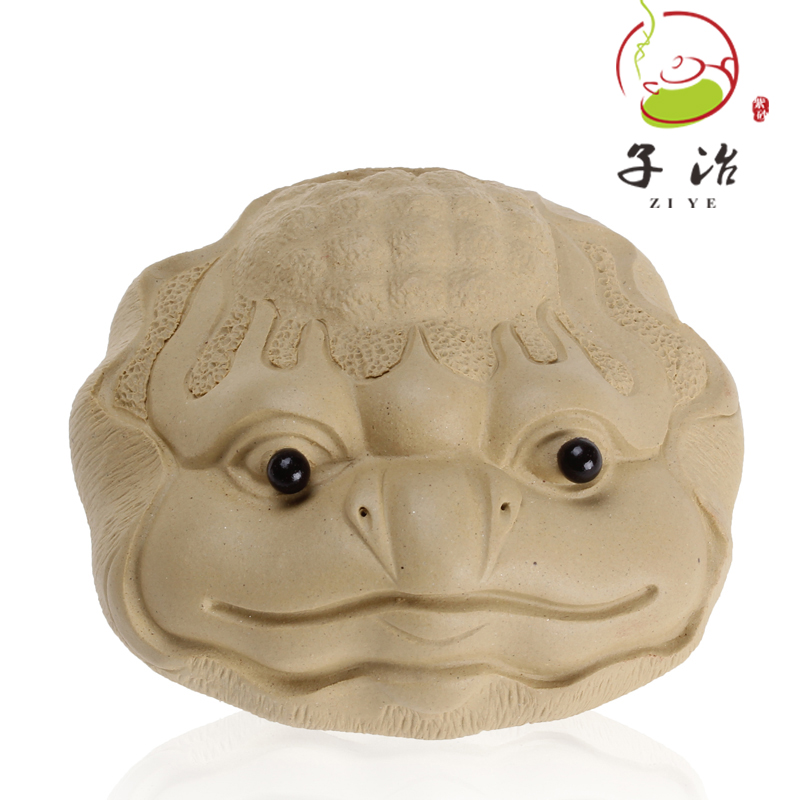 [Sub] ye bihe listen to the mountain green clay yixing tea pet toad tea yixing purple clay ornaments handmade genuine