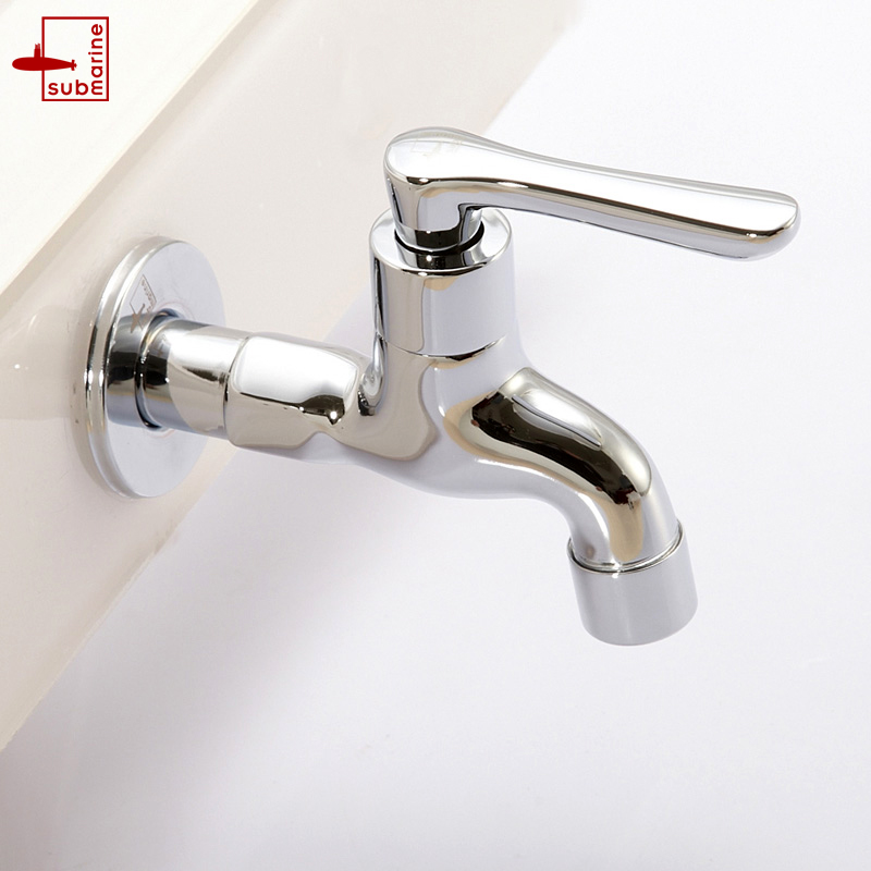 Submarine l1102 all copper 4 points fast open longer mop pool faucet mop pool faucets genuine