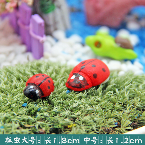 Succulents small decorative ornaments micro landscape small ornaments moss micro landscape ornaments ladybug scarab hua dajie