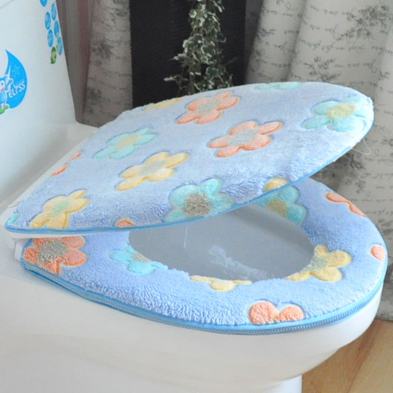 Summer and winter cartoon thick toilet mat toilet seat cover common zipper toilet seat potty sets single piece waterproof