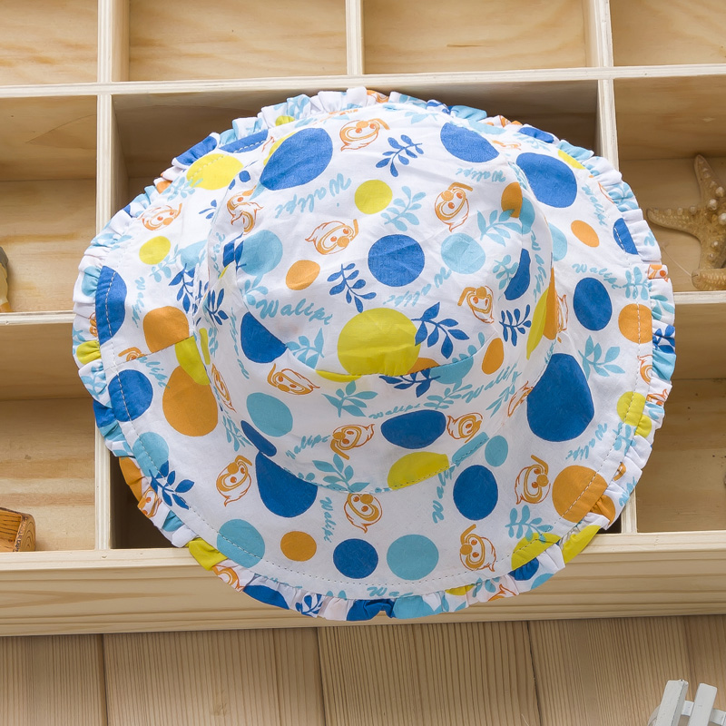 Summer baby hat cotton sun hat girls summer hat summer hat printing small female baby pots hat sun hat princess