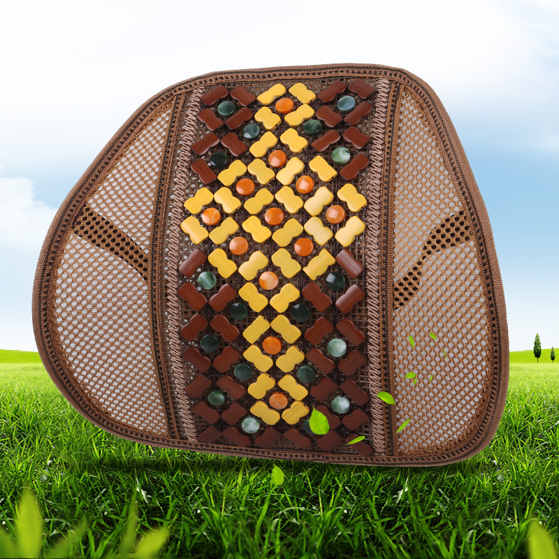 Summer breathable mesh backrest lumbar cushion lumbar pillow office car lumbar bamboo care lumbar cushions chinese knot pattern
