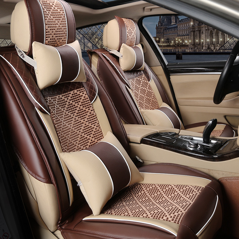 Summer car seat cover new buick regal lavida bora all inclusive four seasons general leather upholstery leather seat cover half