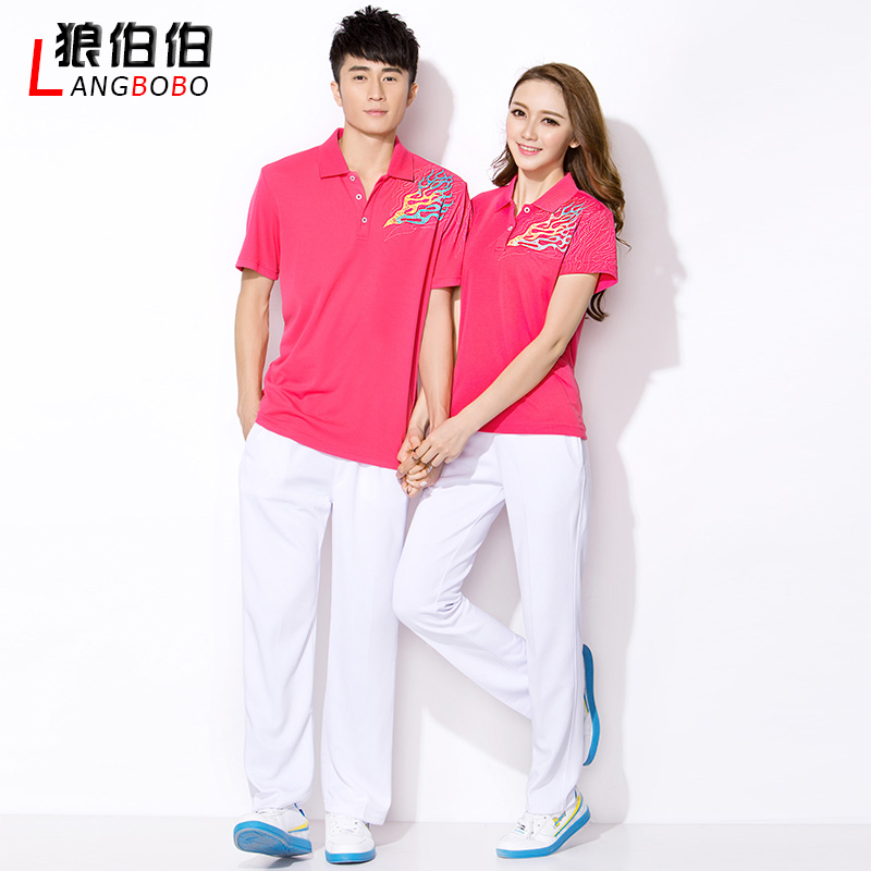 Summer casual sportswear suit junior high school students school uniforms class service custom male and female south korean silk gymnastics