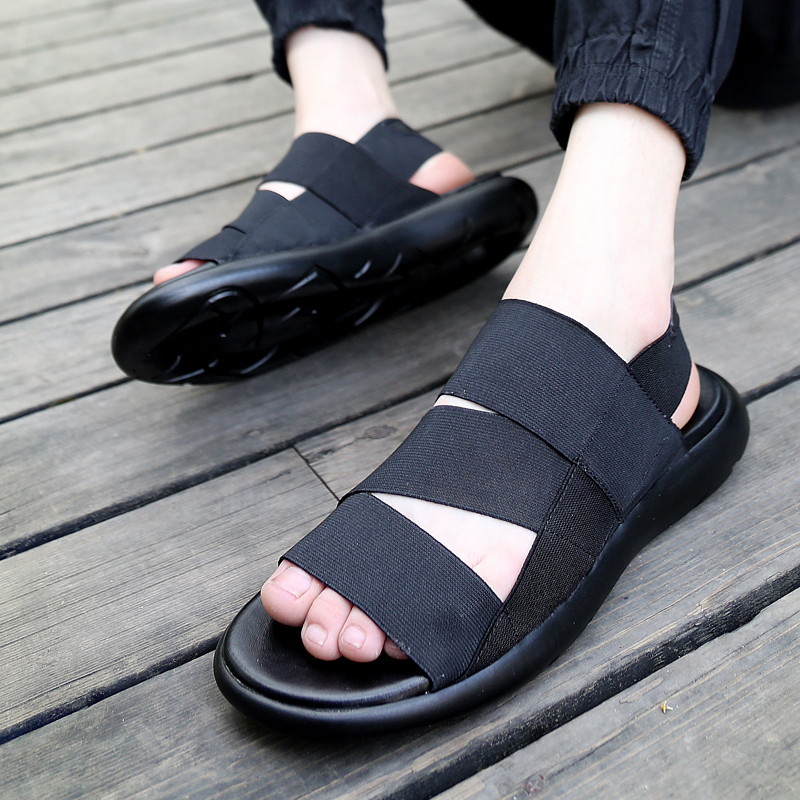 Summer korean version of the trend of youth tide tide dragged sandals and slippers roman sandals fashion casual sandals slippers tide male sandals tide shoes men