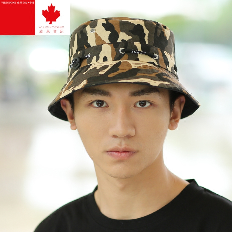 9755f5d02f3 Get Quotations · Summer large brimmed sun hat camouflage hat sun hat male  outdoor fishing hat uv sun hat