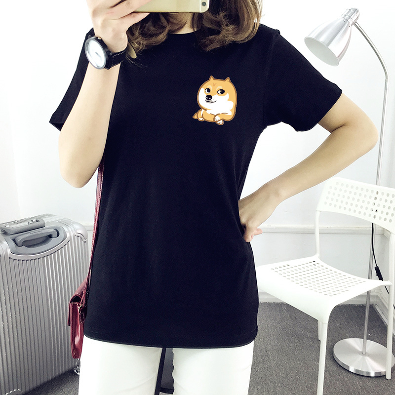 Summer new god annoying dog lovers summer short sleeve t-shirts for men and women spiritual pollution dogs male and female models influx of single dog