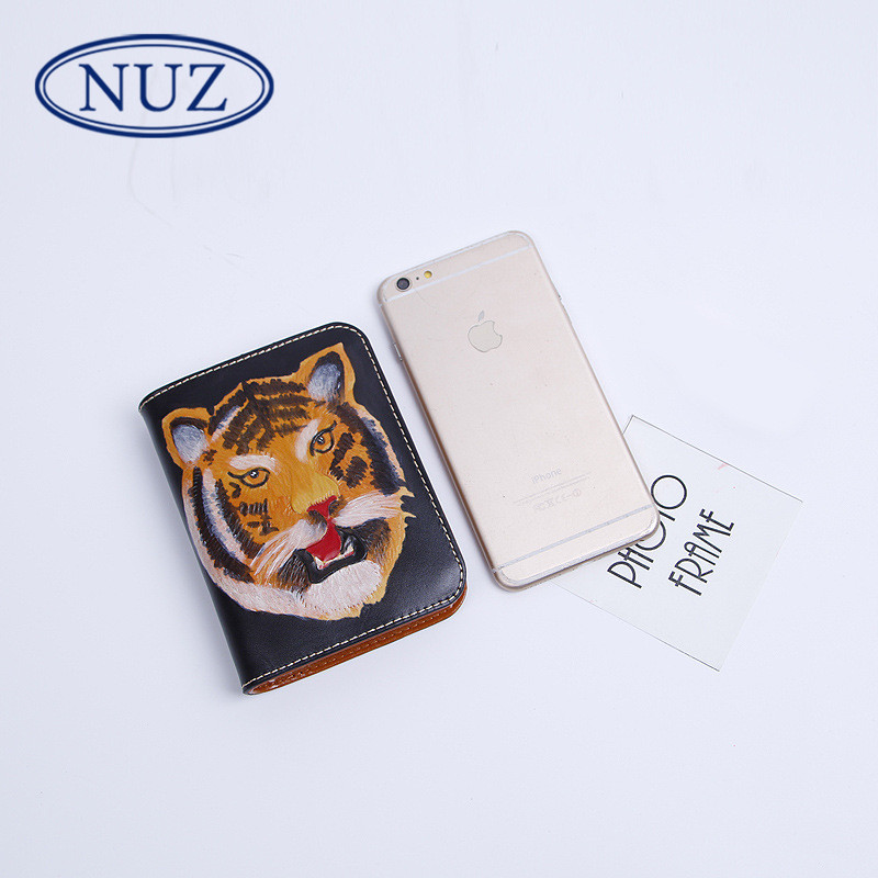 Summer new hong kong NUZ2016 brand men's business casual short paragraph wallet money header layer of leather wallet 2457