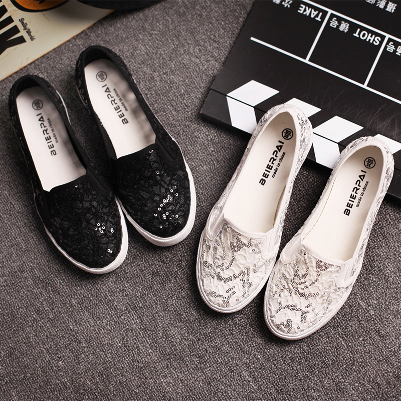 Summer shallow mouth of canvas shoes women shoes bud silk hollow white shoes a pedal lazy shoes casual shoes flat heel shoes