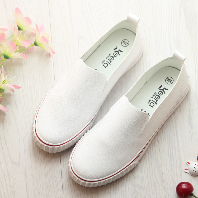 Summer shoes women shoes shallow mouth lazy shoes korean flat white shoes women shoes white canvas shoes casual shoes flat leather