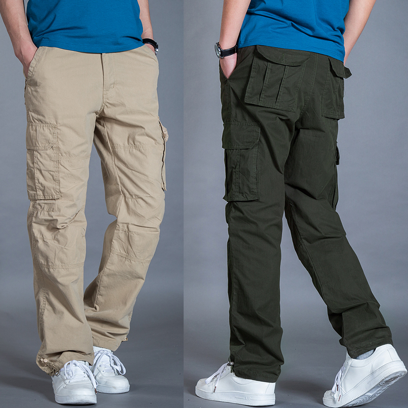 71a8201b1a44 Get Quotations · Summer thin section trousers men outdoor sports trousers  casual pants trousers loose straight jeans overalls pocket