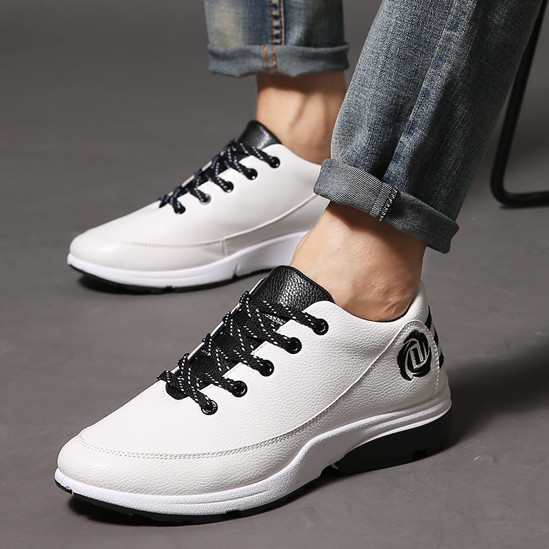 Summer white shoes white shoes korean version of england fall breathable men's sports and leisure shoes men shoes tide autumn