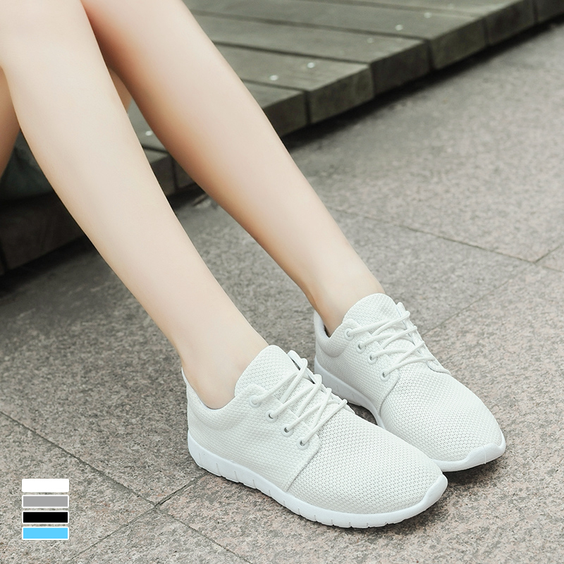 Summer wild white shoes korean tidal shoes sports shoes female student flat shoes leisure shoes breathable mesh shoes